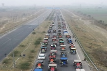 Farmers Protest: किसानों ने चिल्ला बॉर्डर पर निकाला ट्रैक्टर मार्च, महामाया फ्लाईओवर हुआ जाम, देखें Photos