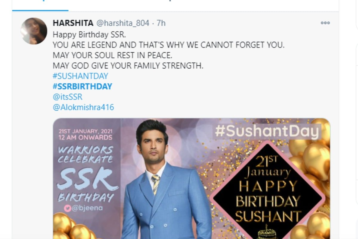 Sushant Singh Rajput, Sushant Singh Rajput Birthday, Happy Birthday Sushant Singh Rajput, Happy Birthday SSR, Social Media, Viral News, News18, SushantDay, SSR Birthday