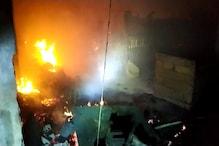 पूर्णिया जूट पार्क में आग में करोड़ों की संपत्ति खाक,लगाई गईं दमकल की 12 टीमें