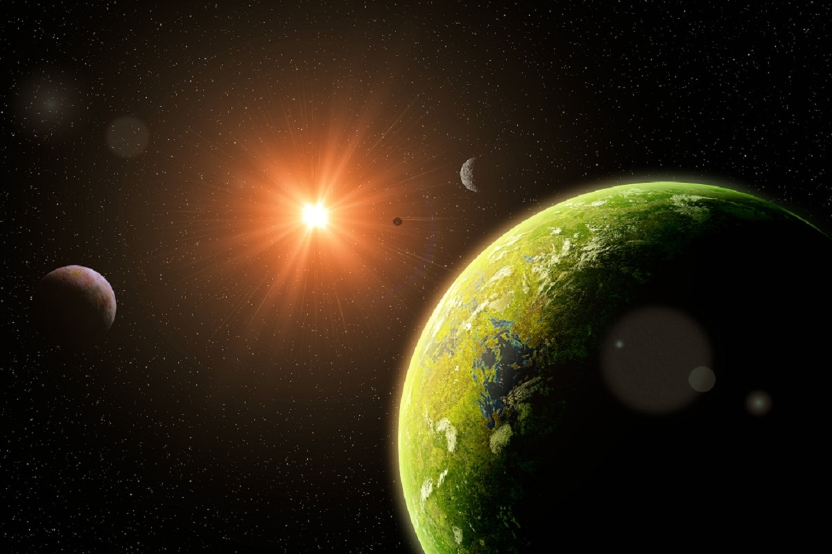 , Space, Solar System, Exoplanet, Tectonic Activity, Half planet, Volcano