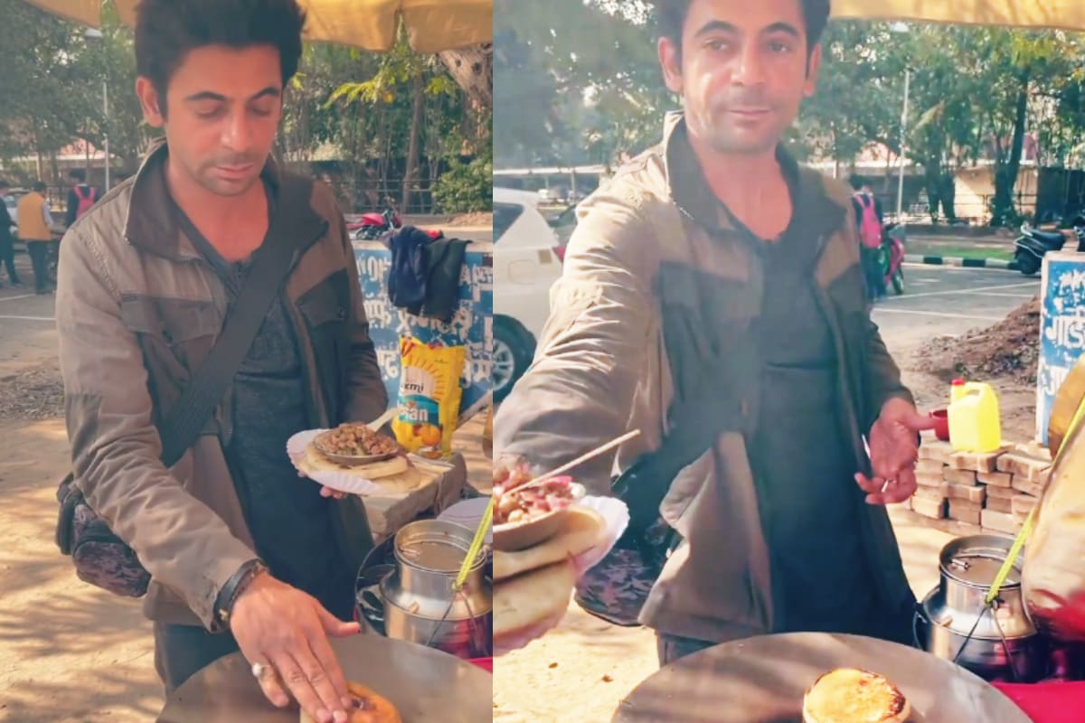 Sunil Grover sells Chol-Kulche on the side of the road on Valentine's Day, robbed by people watching the video – News18 Hindi