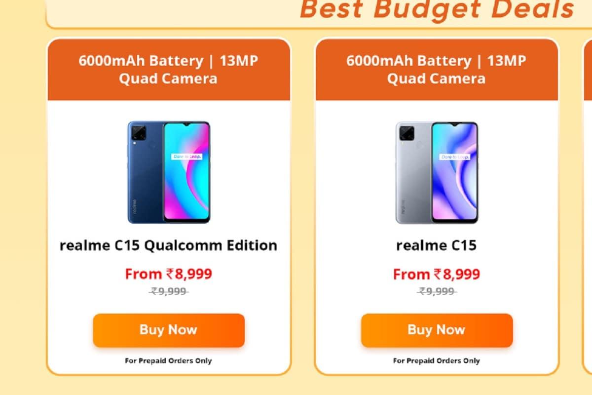 Realme C15 को सस्ता कर दिया गया है.
