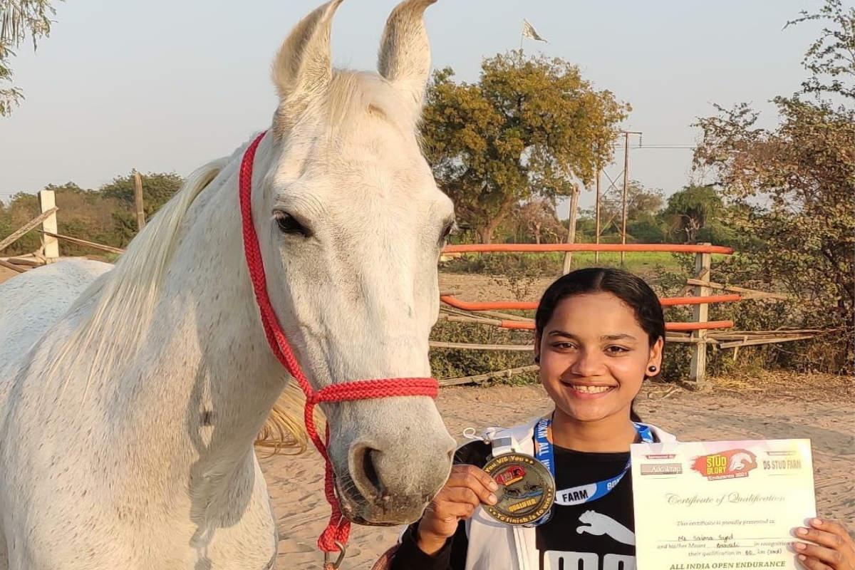 PHOTOS: देश की पहली महिला वन स्टार राइडर बनी राजस्थान की घुड़सवार साइमा सैयद Rajasthan News- Jodhpur News- Rajasthans equestrian Saima syed became the first woman of countrys One Star Rider-PHOTOS
