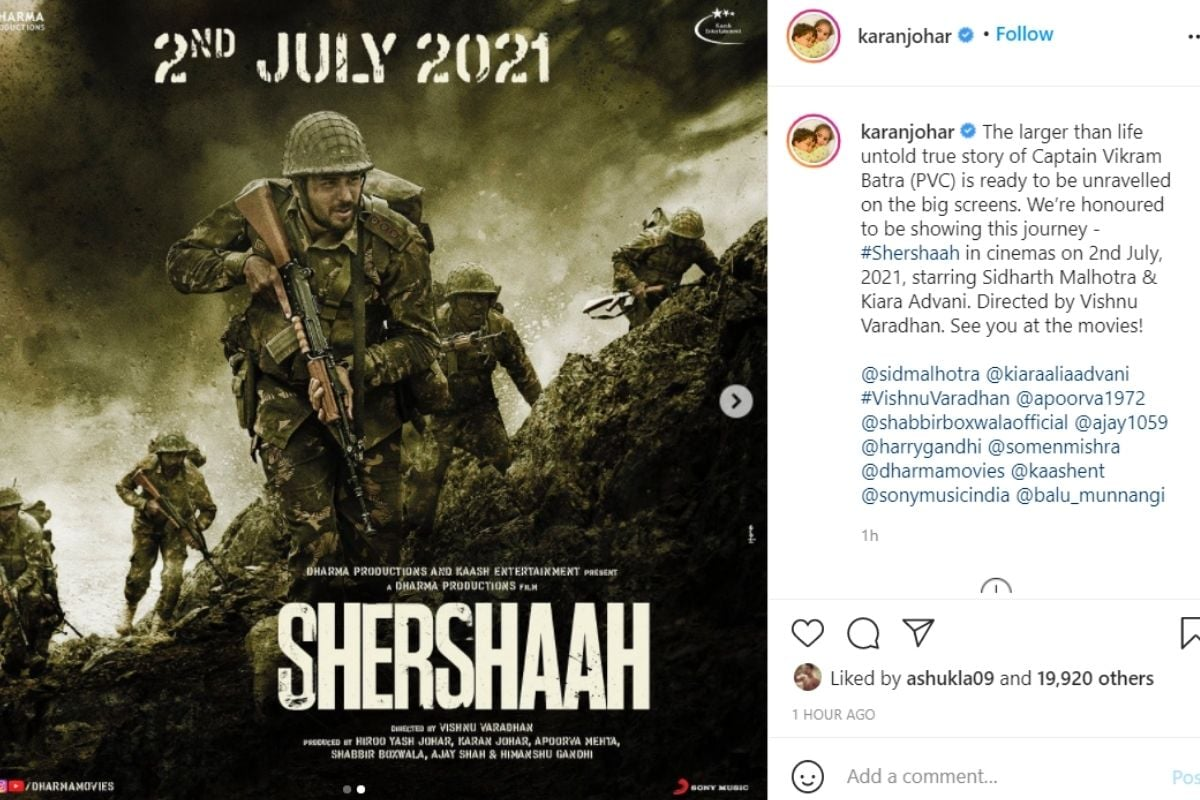 kiara advani, sidharth malhotra, kiara sidharth wedding, shershaah, shershaah release date, sidharth malhotra movie shershaah, shershaah release date out, shershah, shershah release date, shershah movie, kiara advani, siddharth malhotra, bollywood news in hindi, news18, siddha malhotra upcoming movie