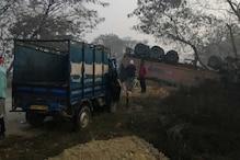 आजमगढ़-गोरखपुर हाईवे पर दर्दनाक हादसा, चार मजदूरों की मौत