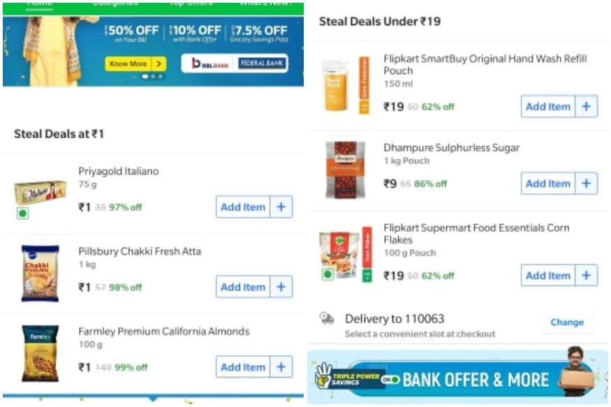 Know what is available today in Flipkart's Grocery Deal.