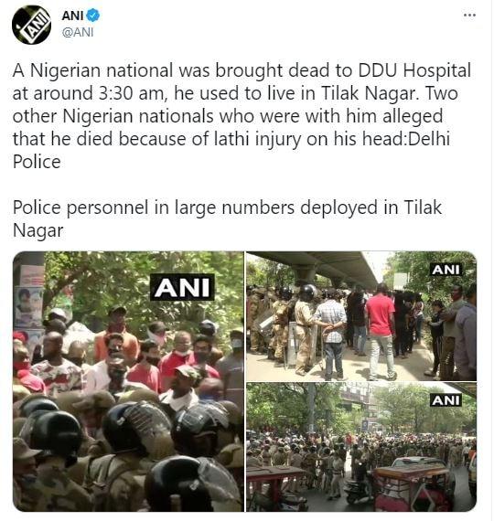 Delhi News दिल्ली लेटेस्ट हिंदी न्यूज अपडेट, Nigerian citizen Death नाइजीरिया के नागरिक की मौत, Delhi Police दिल्ली पुलिस