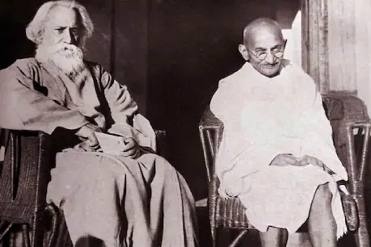 Mahatma Gandhi, Rabindranath Tagore, Indian history, Shantiniketan, Indian National Movement,