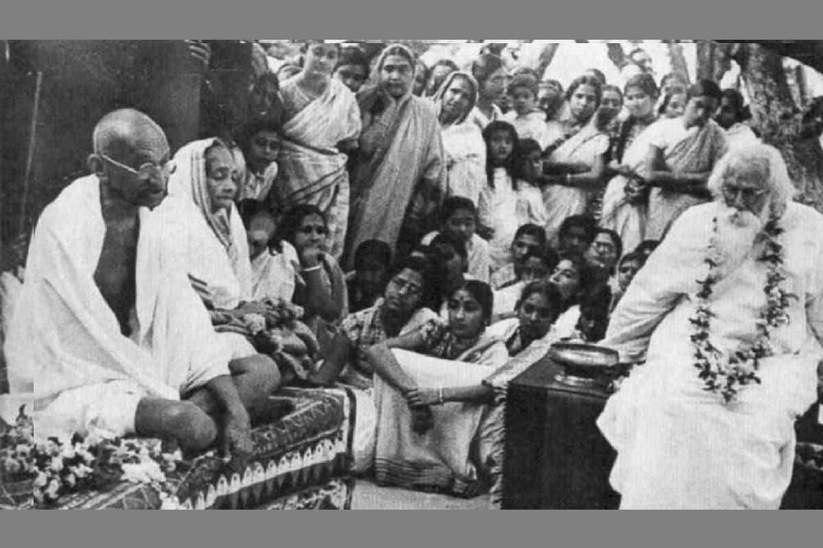 , India, Mahatma Gandhi, Rabindranath Tagore, Indian history, Shantiniketan, Indian National Movement,