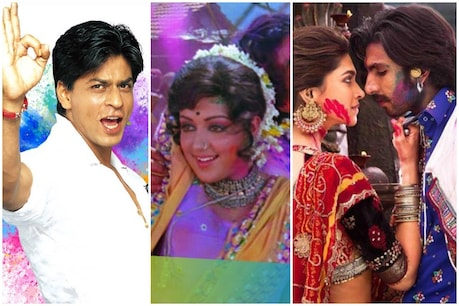 In Bollywood films, the entire one scene or song Holi is dedicated.  (YouTube)