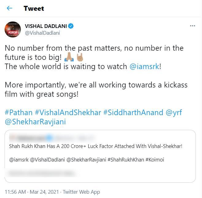 Pathan, Shah Rukh Khan, deepika padukone, Vishal dadlani