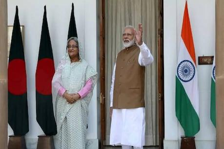 भारत के प्रधानमंत्री नरेंद्र मोदी और बांग्लादेश की प्रधानमंत्री शेख हसीना. (रॉयटर्स फाइल फोटो)