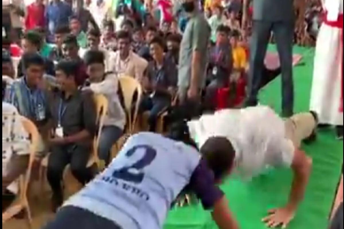 VIDEO: कन्याकुमारी में विशेष अंजज में दिखे राहुल गांधी, 9 सेकेंड्स में किए गए 13 पुशअप्स