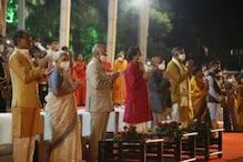 संध्या महाआरती में शरीक हुए राष्ट्रपति कोविंद, मां नर्मदा की पूजा-अर्चना की