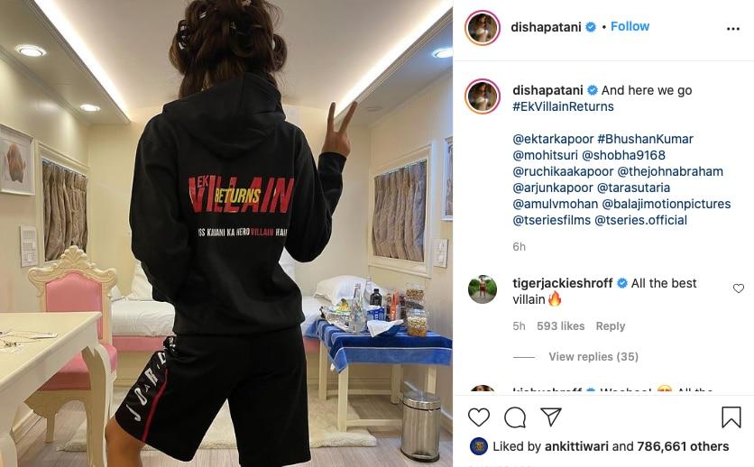 दिशा पटानी, Disha Patani, Mohit Suri, Ek Villain Returns, Arjun Kapoor, Ekta Kapoor