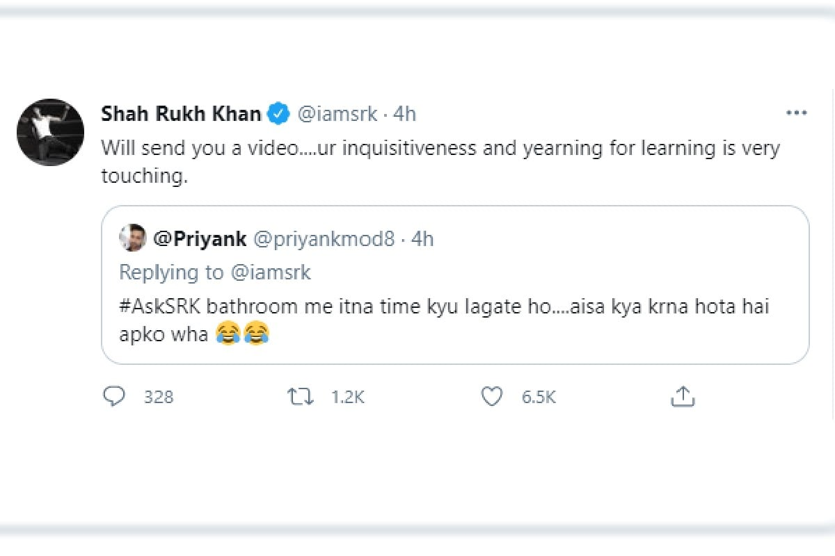 Shahrukh Khan, Shahrukh Khan question
