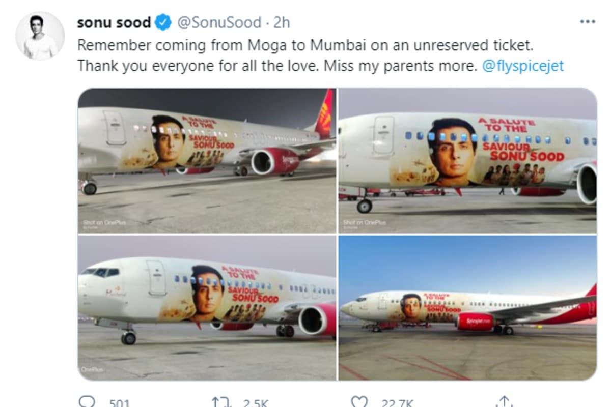 Sonu Sood, Spicejet tribute