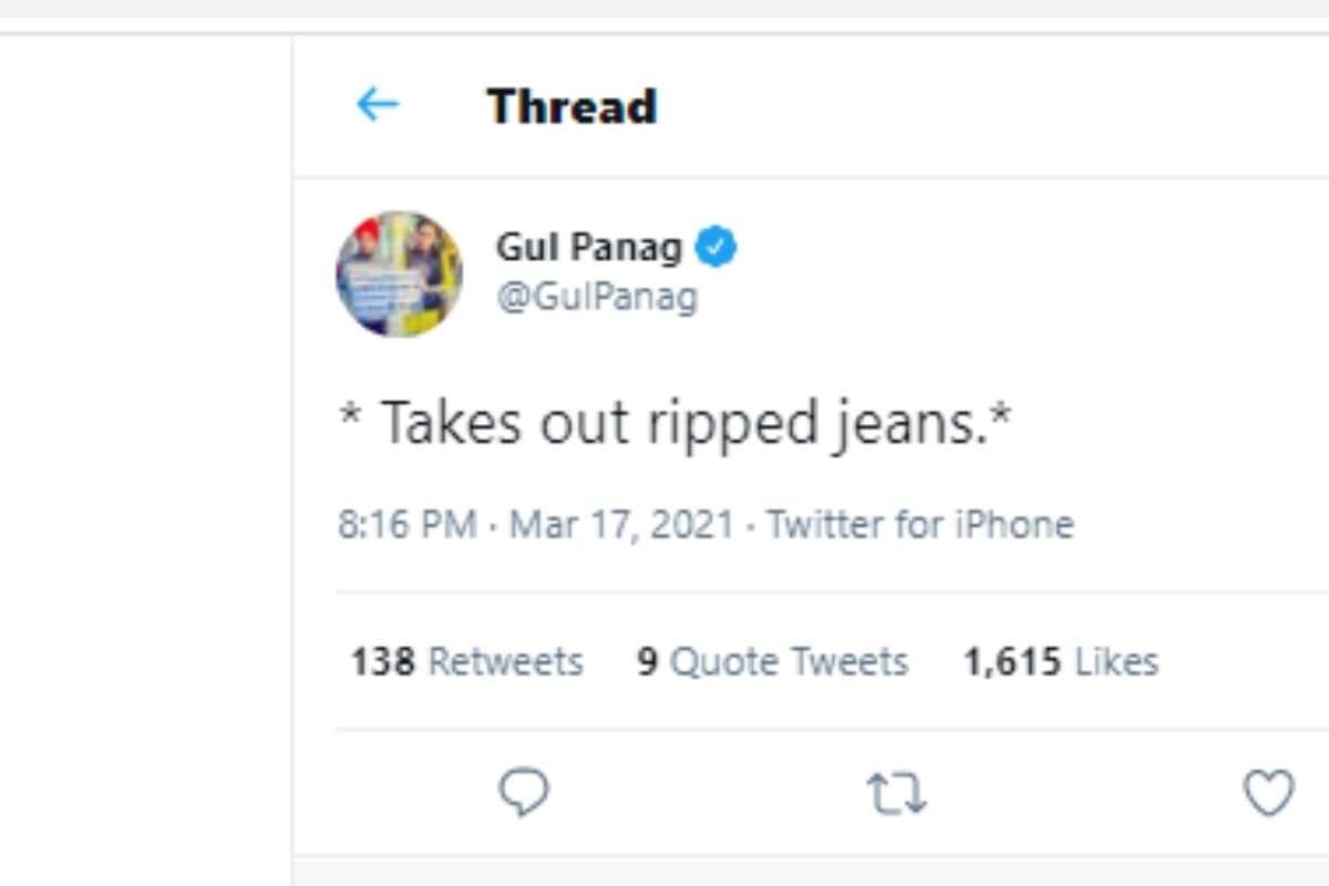 Gul Panag, Gul Panag lashes out at Tirath Singh Rawat, Ripped Jeans, Tirath Singh Rawat statement on Ripped Jeans, Social Media, RippedJeansTwitter, Uttarakhand Chief Minister Tirath Singh Rawat, Gul Panag