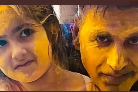 Color photo with Akshay Kumar's daughter Nitara.  (Photo courtesy: Akshay Kumar / twitter)