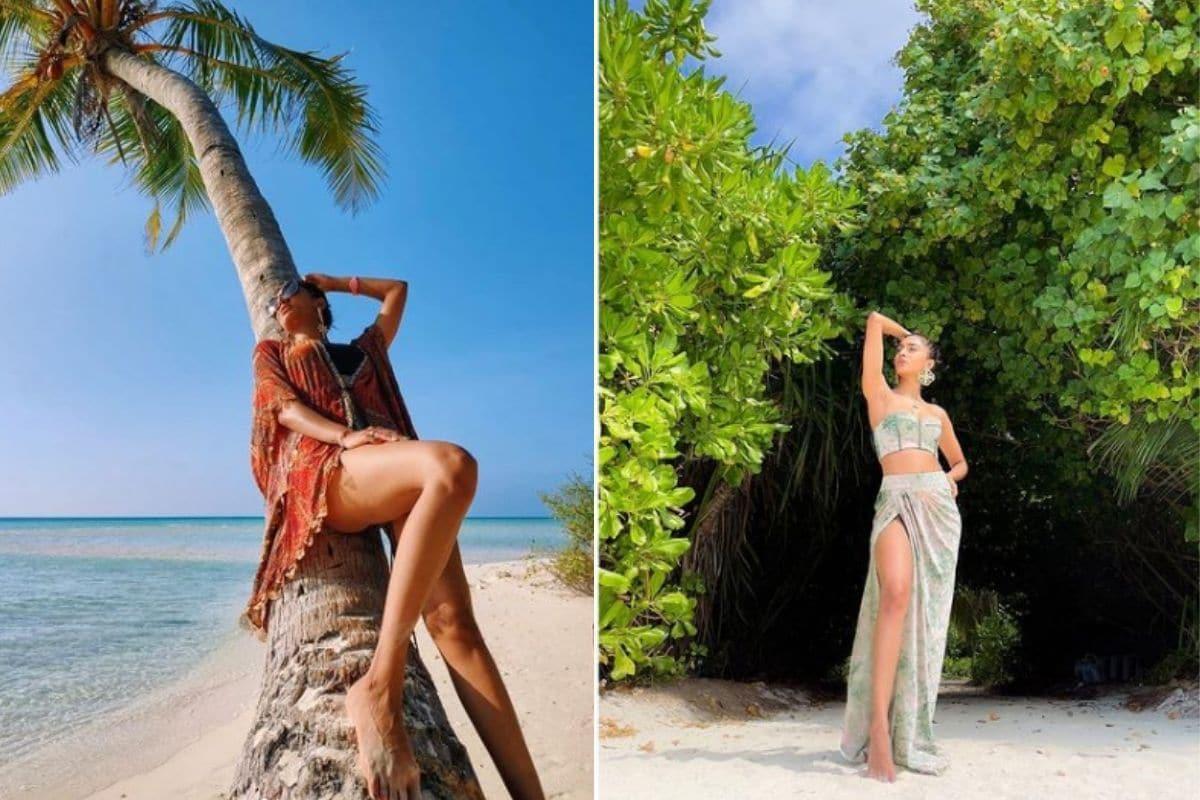 मुंबई: खूबसूरत एक्ट्रेस एरिका फर्नांडिस (Erica Fernandes) कुछ समय से अपने बोल्ड फोटो सोशल मीडिया पर शेयर कर रही हैं. एरिका ने मालदीव की छुट्टियों (Maldives Vacation) की तस्वीरें अपने इंस्टाग्राम अकाउंट पर शेयर किया है. एरिका की ग्लैमरस फोटो जमकर वायरल हो रही हैं. एरिका अपने फैंस के बीच बेहद फेमस है इसीलिए उनकी हर फोटो और वीडियो पर फैंस अपना प्यार लुटाते रहते हैं. सोशल मीडिया पर एरिका की लंबी चौड़ी फैन फॉलोइंग भी है.(फोटो साभार : iam_ejf/Instagram)