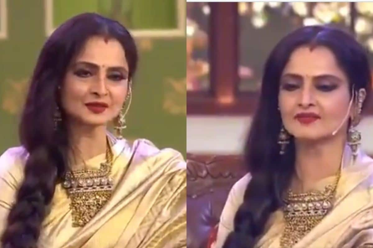 When Rekha saw the picture of Amitabh Bachchan, a strange reaction, being  seen repeatedly VIDEO - Stuff Unknown