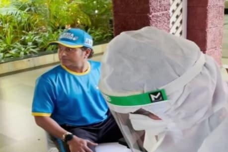 सचिन तेंदुलकर ने कोरोना टेस्ट के दौरान किया मजाक, वीडियो वायरल (PC- सचिन इंस्टाग्राम)