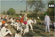 भारत बंद : पंजाब और हरियाणा में प्रदर्शनकारियों ने रेल पटरियों को जाम किया
