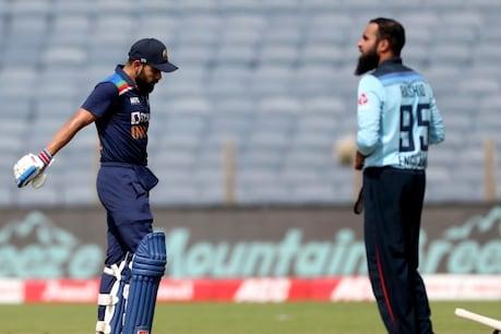 India vs England: विराट कोहली को दूसरे वनडे में आदिल राशिद ने शिकार बनाया
