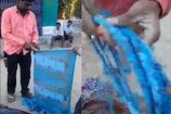 1 मिनट में पुरानी साड़ी फाड़कर जुगाड़ से बनाई रस्सी, लोग हैरान, देखें वीडियो