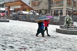 हिमाचल में कुदरत का कहर: मनाली में 25 साल बाद अप्रैल में स्नोफॉल, 3 NH समेत 150 रोड बंद