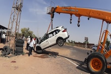 चूरू में कार और बस के बीच आमने-सामने की भिड़ंत, हादसे में तीन लोगों की मौत