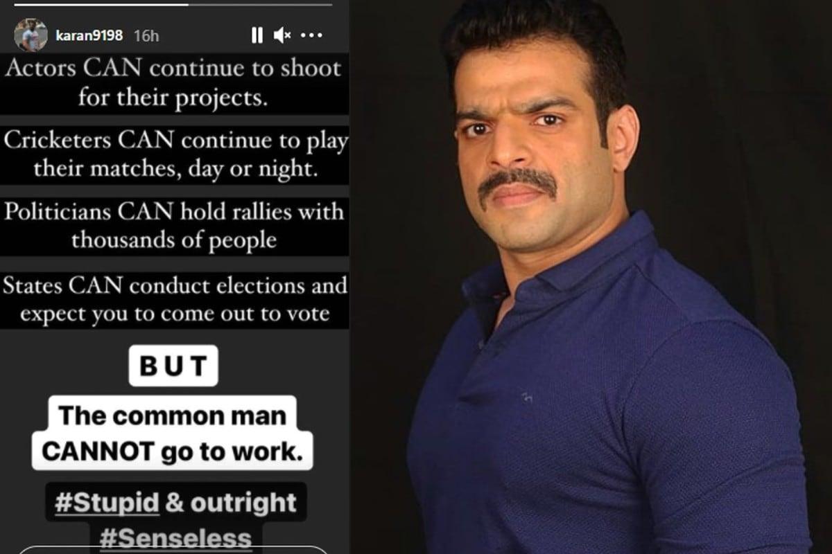 Karan Patel, lockdown