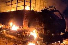 भारत बंद से पहले सुकमा में नक्सलियों का उत्पात,NH 30 पर फूंक डाले 7 वाहन
