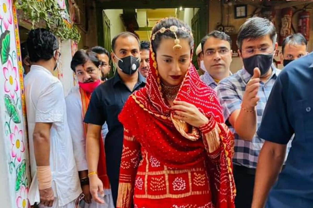 Udaipur_ Kangana Ranaut could not stop the tears after seeing Shrinathji, then this demand was placed in front of the priests.