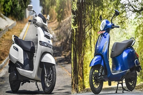 Competitive competition is taking place between Bajaj and TVS electric scooter.