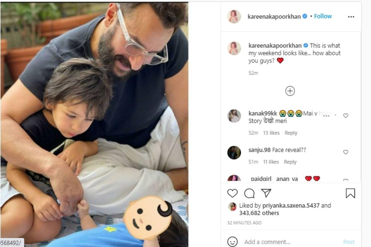 Kareena Kapoor, Kareena Kapoor Khan, Saif ali Khan, Taimur Ali Khan, Kareena Kapoor Shares First PIC Of New Born BABY BOY, करीना कपूर खान, तैमूर अली खान, सैफ अली खान,  करीना कपूर की नई पोस्ट, करीना कपूर का छोटा बेटा