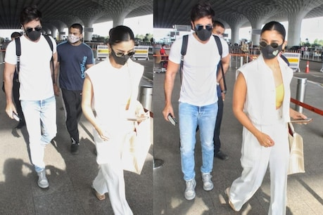 Ranbir Kapoor-Alia Bhatt was spotted at the airport.  Photo Sincerely Fearless