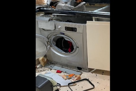 Blast in washing machine after washing clothes.