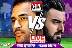 CSK VS PBKS Live Score : चेन्नई सुपर किंग्स ने किया पंजाब को पस्त, छह विकेट से दी मात