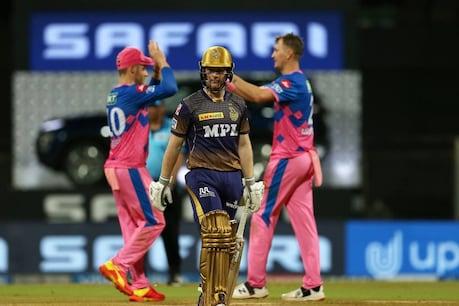 मॉर्गन की कप्तानी वाली टीम केकेआर को राजस्थान रॉयल्स ने 6 विकेट से मात दी. (PTI)
