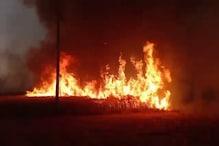 PHOTOS: आग का तांडव, कैथल में किसानों की आंखों के सामने 27 एकड़ गेहूं की फसल राख