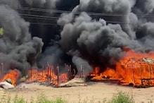 गुरुग्राम में दर्जनों झुग्गियां जलकर राख के ढेर में तब्दील, कई गैस सिलेंडर फटे