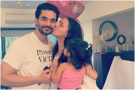 Meher, daughter of Angad Bedi and Neha Dhupia, was born in 2018 (Photo courtesy: Instagram / nehadhupia)