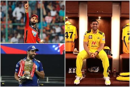 9 अप्रैल को आईपीएल का 14वां सीजन शुरू हो रहा है. रोहित शर्मा ने अब तक सबसे ज्यादा 5 और महेंद्र सिंह धोनी ने तीन बार अपनी कप्तानी में आईपीएल जीता है. (RCB, CSK Twiitter)