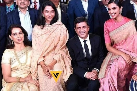 Deepika Padukone with her mother, father and sister.  (Photo: viral bhayani)