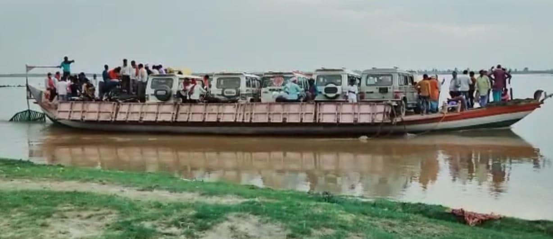 Bagha News बगहा, Gandak River गंडक नदी, boat नाव, West Champaran latest news, Bihar Corona News