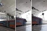 गुजरात में टाउते का कहर, तिनकों की तरह उड़ी केवड़िया रेलवे स्टेशन की छत