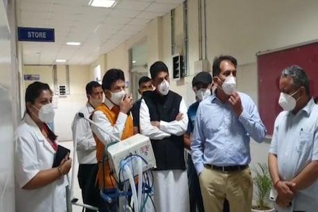 खेल मंत्री राकेश पठानिया कांगड़ा के CMO डॉक्टर गुरदर्शन गुप्ता समेत स्वास्थ्य महकमे की पूरी टीम लेकर पंजाब के पठानकोट में पहुंचे थे.
