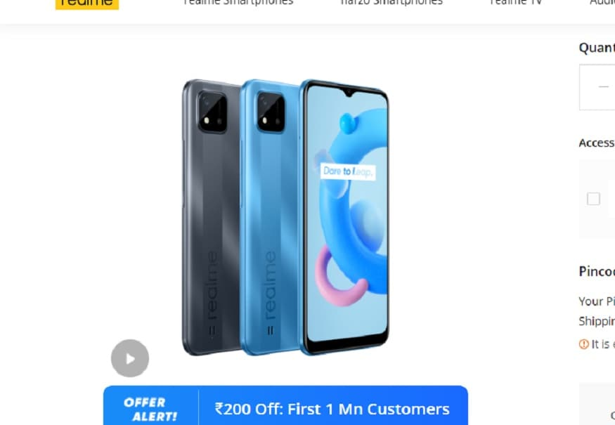 Offer is being given on Realme C20 phone.