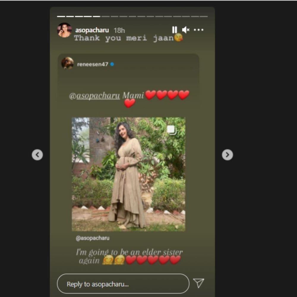 Charu Asopa, Charu Asopa pregnancy, Charu Asopa reveals Sushmita sen reaction, Social Media, Viral News, Rajeev Sen, Sushmita sen is so excited, सुष्मिता सेन, चारु असोपा